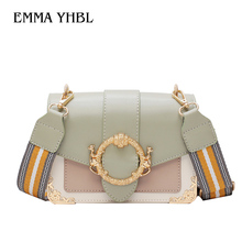 EMMA YHBL  New Korean version of 2019 simple and contrasting color single-shoulder cross-body bag