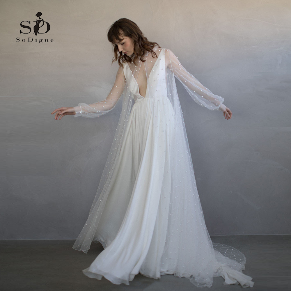Aliexpress.com : Buy Wedding Dress 2 Pieces Long Sleeves