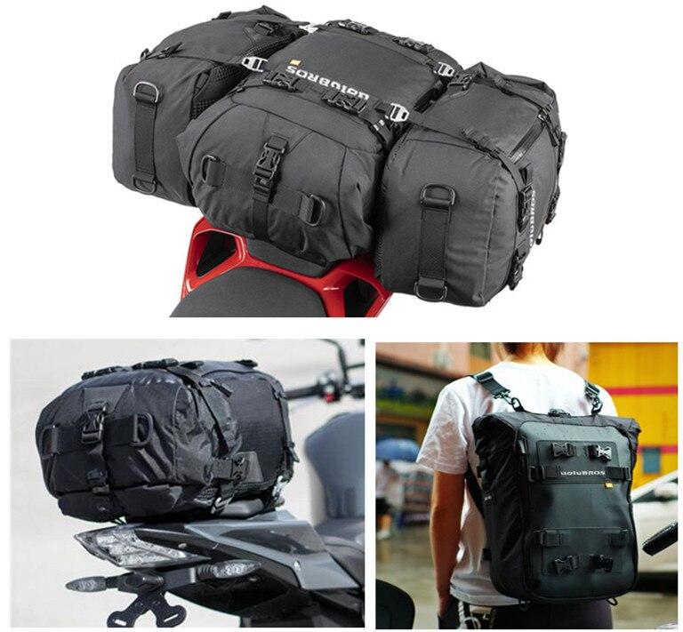 2019 alta calidad Uglybros multifunción impermeable motocicleta asiento trasero bolsa lateral motocicleta bolso trasero mochila