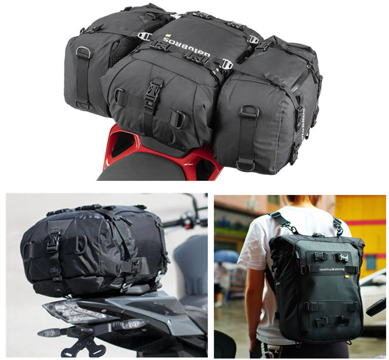 2019 High Quality Uglybros Multi-function Waterproof  Motorcycle Rear Seat Bag Side Bag Motorcycle Bag Rear Bag Riding Backpack