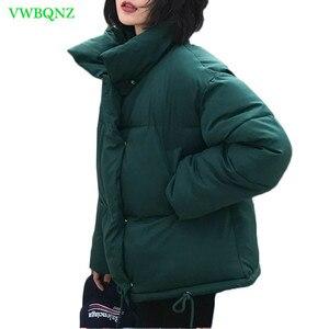 Image 1 - New Women Winter Coat Female Warm Down cotton jacket Womens Korean Bread service Wadded Jackets parkas Female jacket coats A941