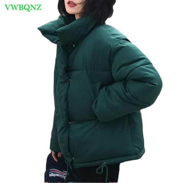Nuevo abrigo de invierno para mujer, Chaqueta de algodón cálida para mujer, servicio de pan coreano, chaquetas acolchadas, chaqueta parka femenina, abrigos A941