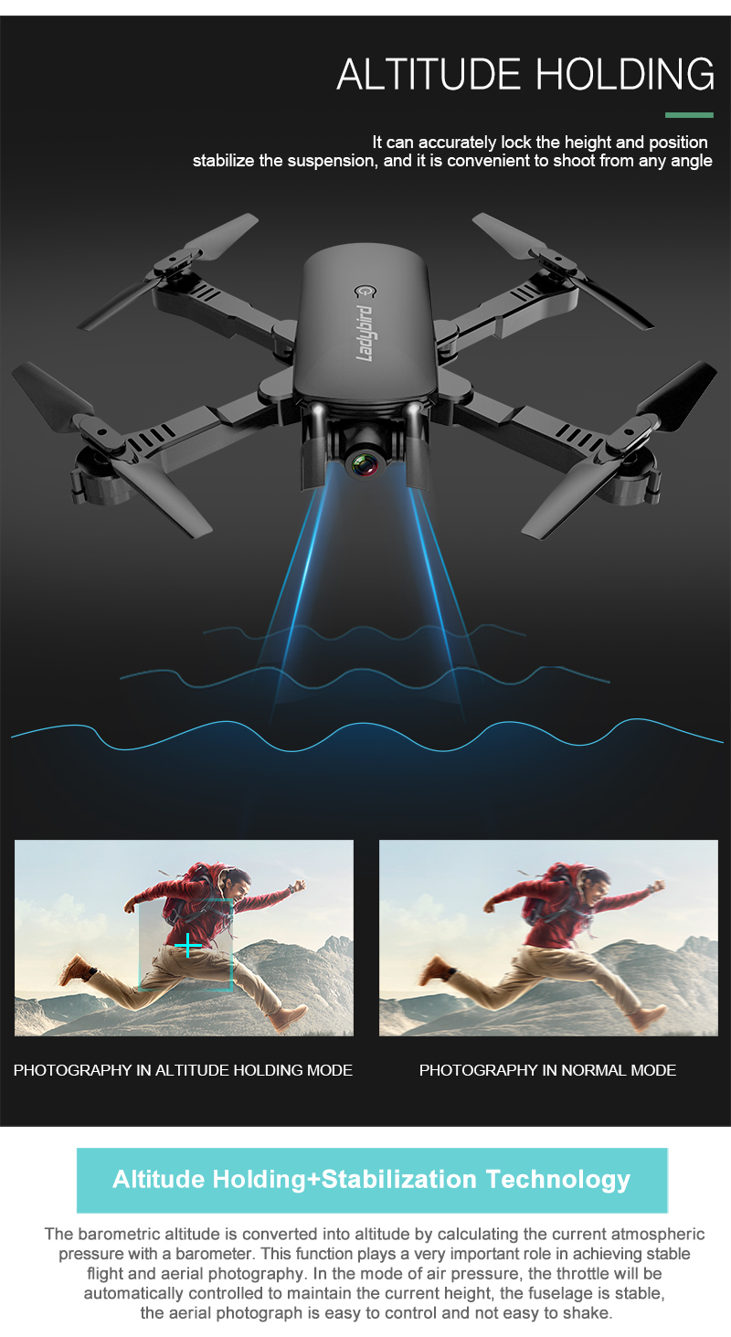 Ladybird R8 Foldable Drone Altitude Hold