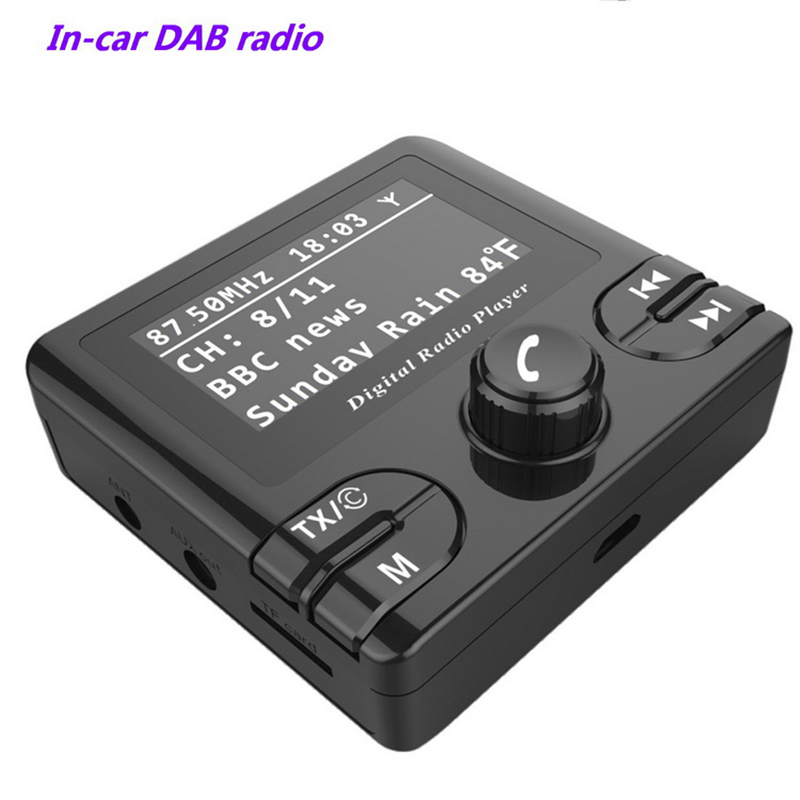 Car Dab In GPS Receiver & Antenna DAB/DAB+ In-car Radio Wireless FM Transmitter DAB+ Radio Adapter Tuner With Audio Output cze 7c 7watt stereo lcd broadcast radio station fm transmitter 12v adapter antenna cable