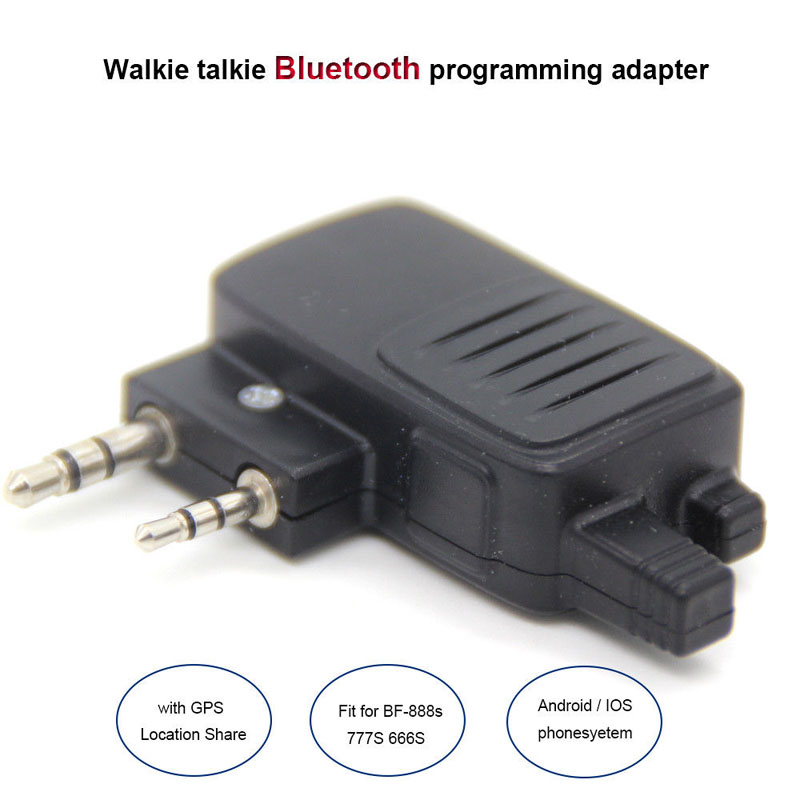 Walkie Talkie Wireless Bluetooth Programming Adapter Connector For Baofeng Radio UV-5R BF-777S/888S For Apple Android Smartphone