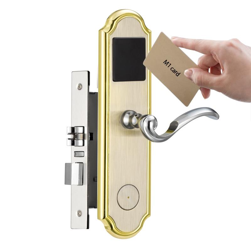 High security door locks RFID access control system M1 card reader lock