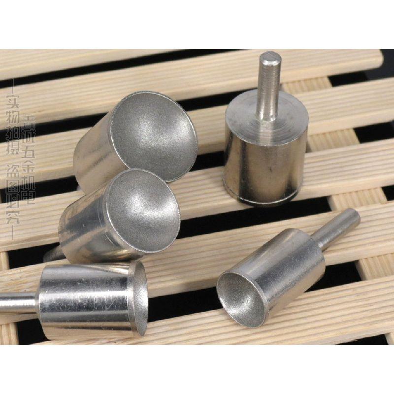 все цены на 3-10mm 8pcs Mill Fineness 600 Head Fine Sand Hollow Bead Rods Bead Forming Knife Diamond Cylindrical Wheel Ball Polishing Tools онлайн