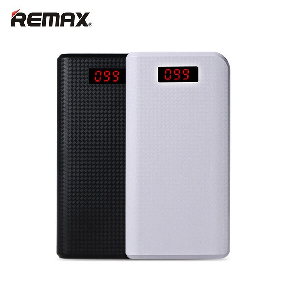 REMAX batterie externe Mobile 30000 mAh 2 USB LED chargeur Portable batterie externe universel de secours pour iPhone 6 s plus Samsung