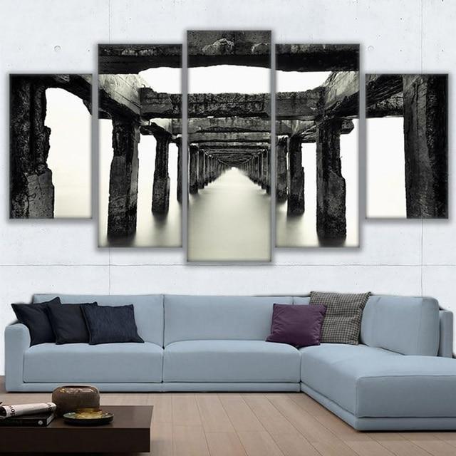 HD Gedruckt Abstrakte Bilder Rahmen Leinwand Wohnzimmer Wandkunst 5