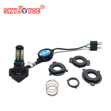 50 pieces H4 9003 HB2 BA20D H6 LED Car Motorcycle Headlight High Low Beam DC12V white H6 motor Scooter led conversion kit(China)