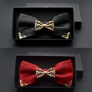 Hollow Metal Decoration Knot Dot Bow Tie For Wedding