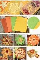 Libro de recuerdos álbumes de la flor de los pétalos decorativos hechos a mano Origami regalo bandeja de Material de paquete de Material SFP