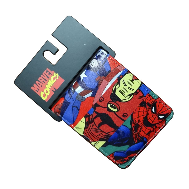 DC Marvel Comics Wallets Cartoon Anime Iron Man Spiderman Captain America Hulk Creative Gift Purse Kids Folder Short Wallet