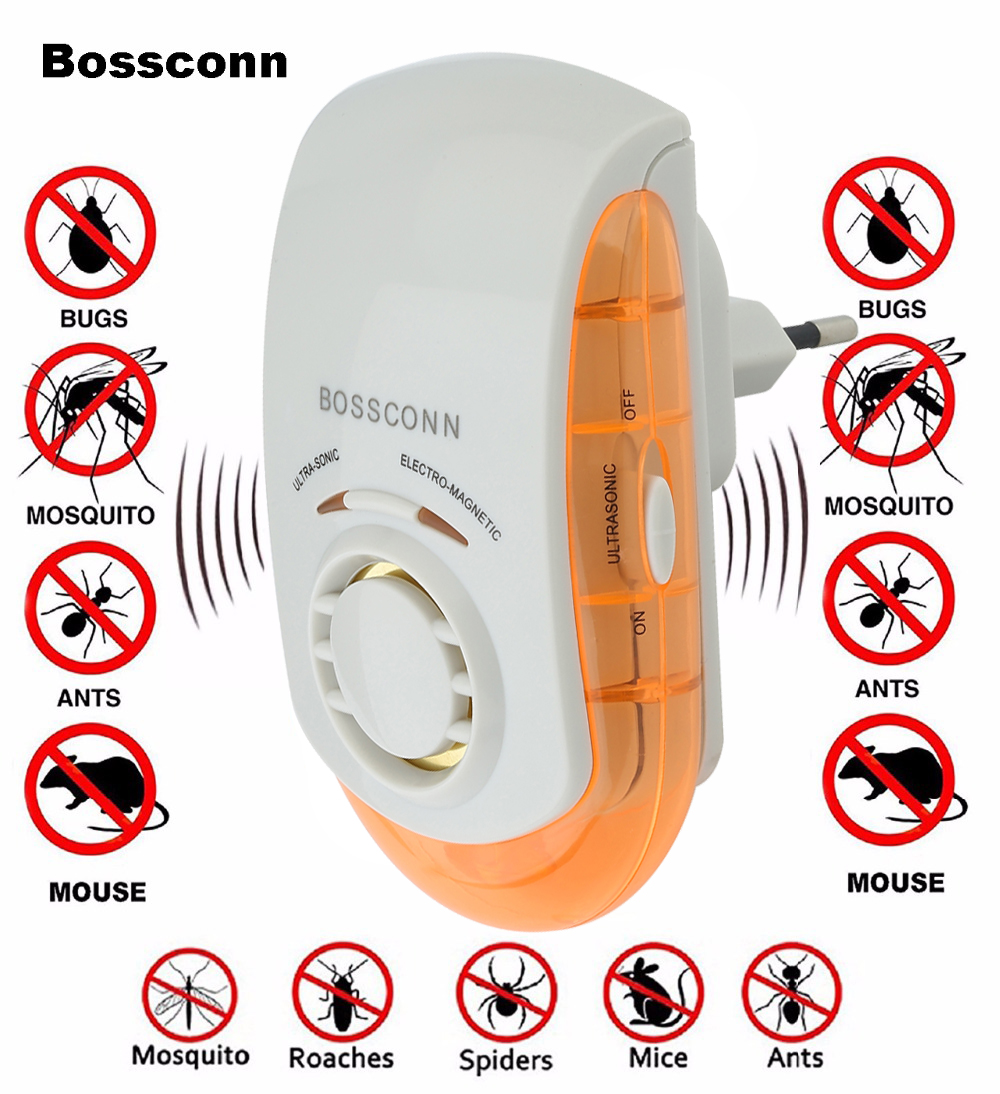 EU UK US PLUG Electronic Pest Repeller Mouse Mosquito Rat Repellent Ultrasonic Rejector Bug Insect Rodent Control