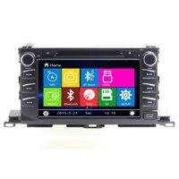 Il trasporto Libero 8 pollice Car audio Per Il 2015 TOYOTA HIGHLANDER auto dvd gps con video car dvd Bluetooth SD USB, Free 8 GB mappa carta