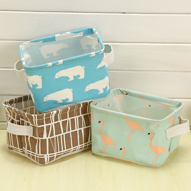 Superieur Cartoon Toy Storage Box Cotton Linen Desktop Waterproof Kids Storage Basket  Cosmetic Organizer Makeup Storage Bag In Storage Boxes U0026 Bins From Home U0026  Garden ...