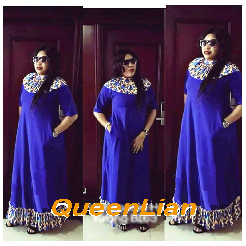 African Fashion Design High Collar Traditional Plus Size Dashiki SleeveLess Long Dress For Lady(22.99)