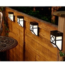 solar powered 2led outdoor garden gutter wall yard landscape path light lamp led light
