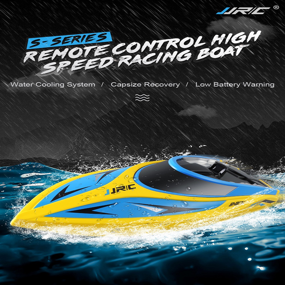 2019 JJRC S2 Self-Righting Portable Mini RC Boat Remote Control Speedboat 25KM/H RC Ship New Arrival Kids Toy