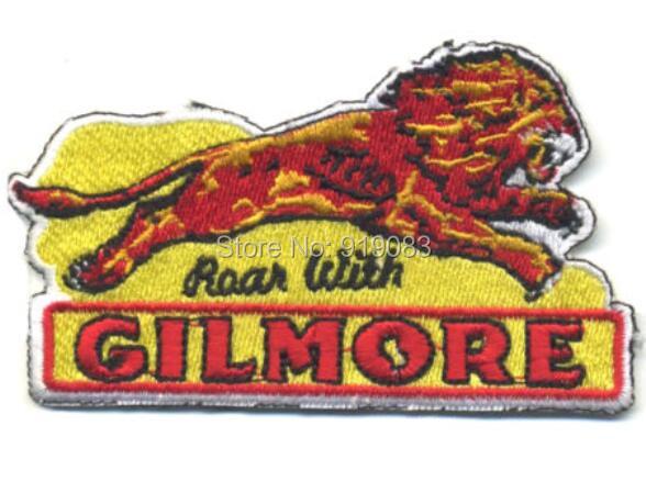 Roar con gilmore parche de hierro bordado insignia para motorista chaleco chaqueta lion motor aceite gasolina MC motocicleta hot rod americana