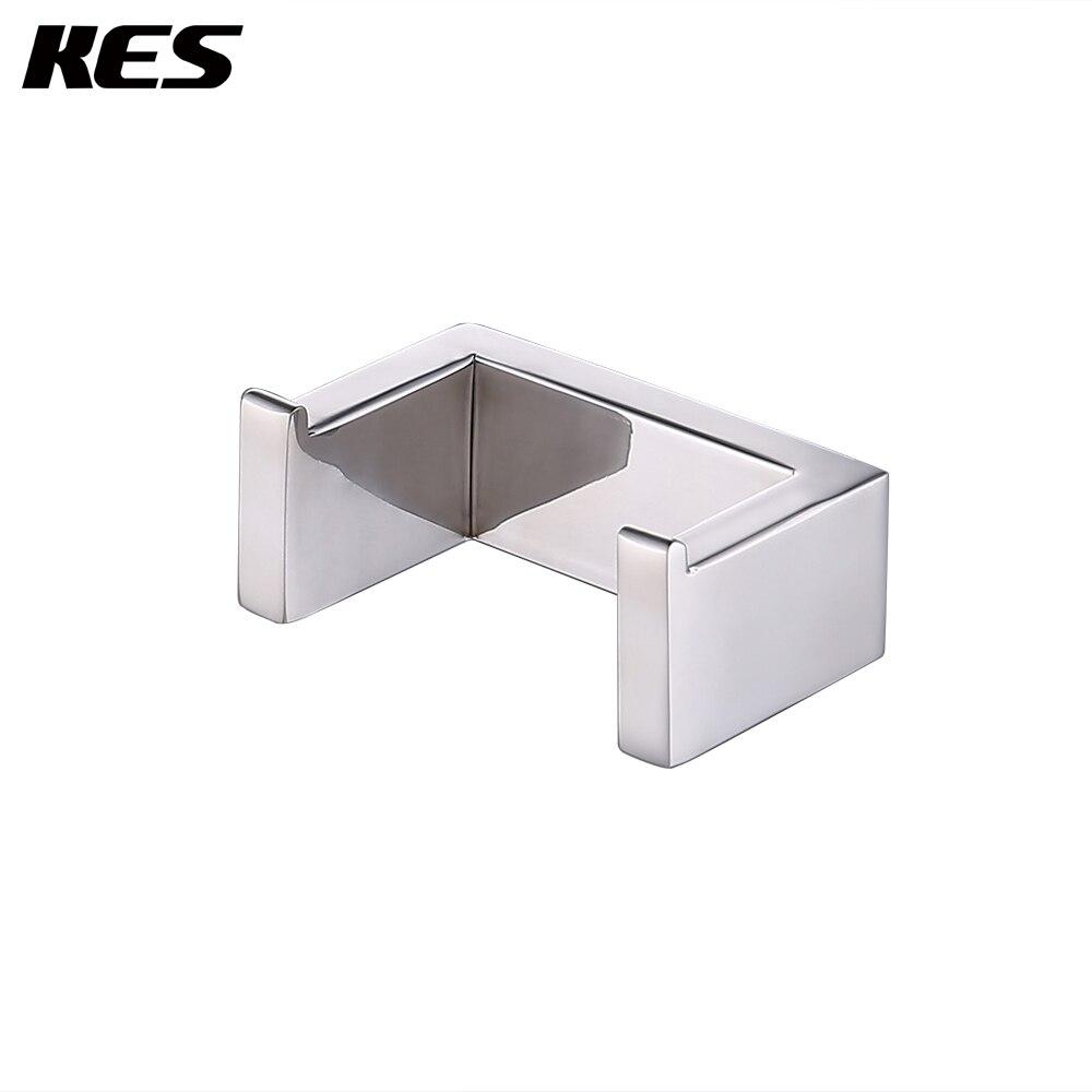 cromo pulido KES A1061/lat/ón perchero individual y toalla gancho soporte de pared