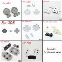 Almohadilla con Botón de goma conductora para coche, Juego de piezas de repuesto para DS Lite DSL, NDS, NDSL, NDSI, LL, XL, 3DS, SNES, NES, WII
