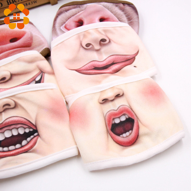 Villain Joke Masks Funny Expression Pig Lower Half Face Cotton Face Mask Festive Christmas Masquerade Party Cosplay Supplies 4