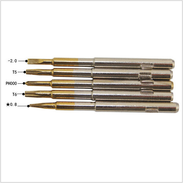 For iPhone 6 S / 6/5 / 5S 5C / 4 / 4S Nokia Samsung Sony LG HTCPentalobe 5 in 1 Screwdriver Repair Kit phone opening