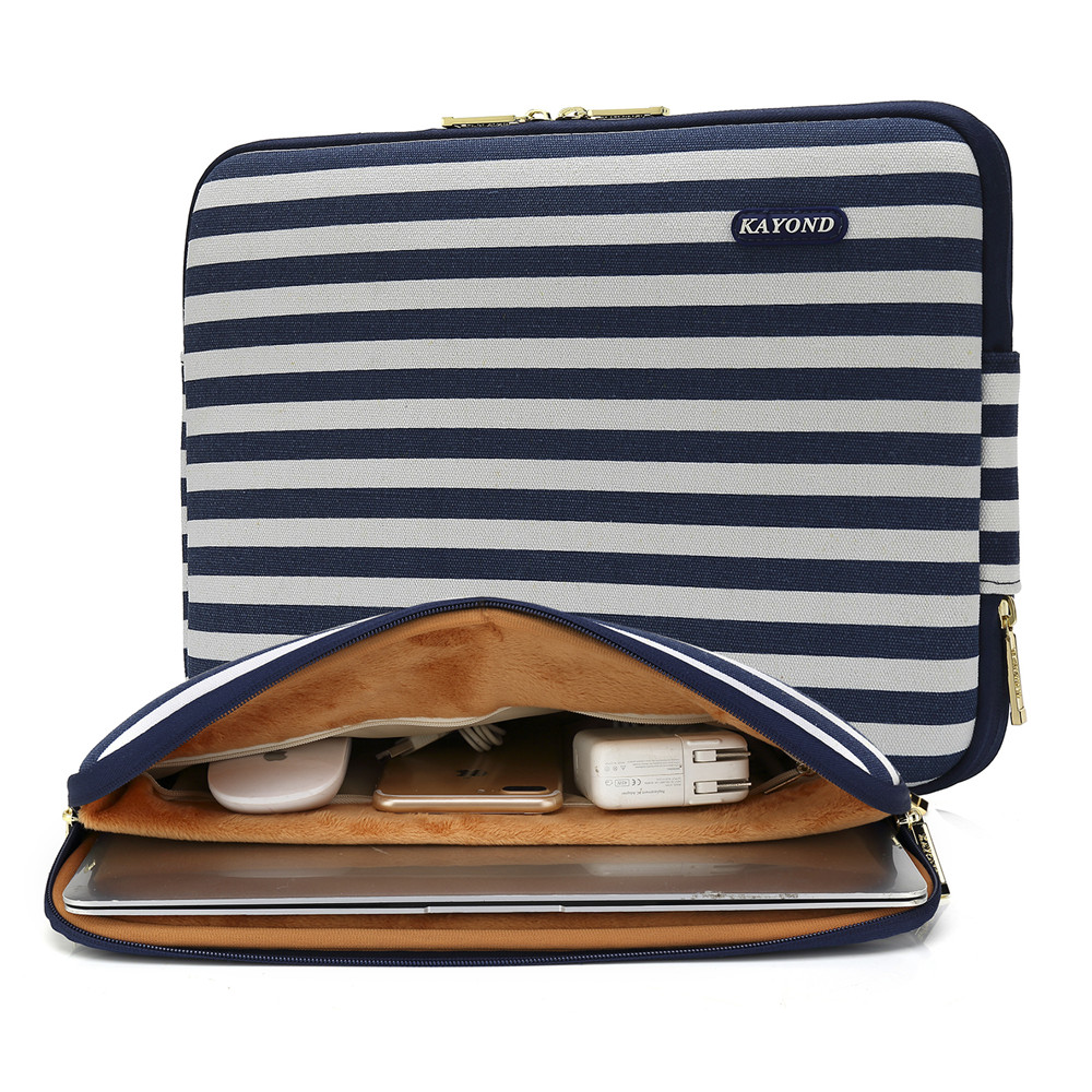 2018 Fashion Lines Stripe Laptop Sleeve Blue White Tablet Bag 11 12 13 14 15 17 Notebook Case for Mabook Air Pro Retina 11 13 15