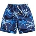 Praia shorts board shorts para o menino do Poliéster de 100% a 100 cm a 150 cm BSG35