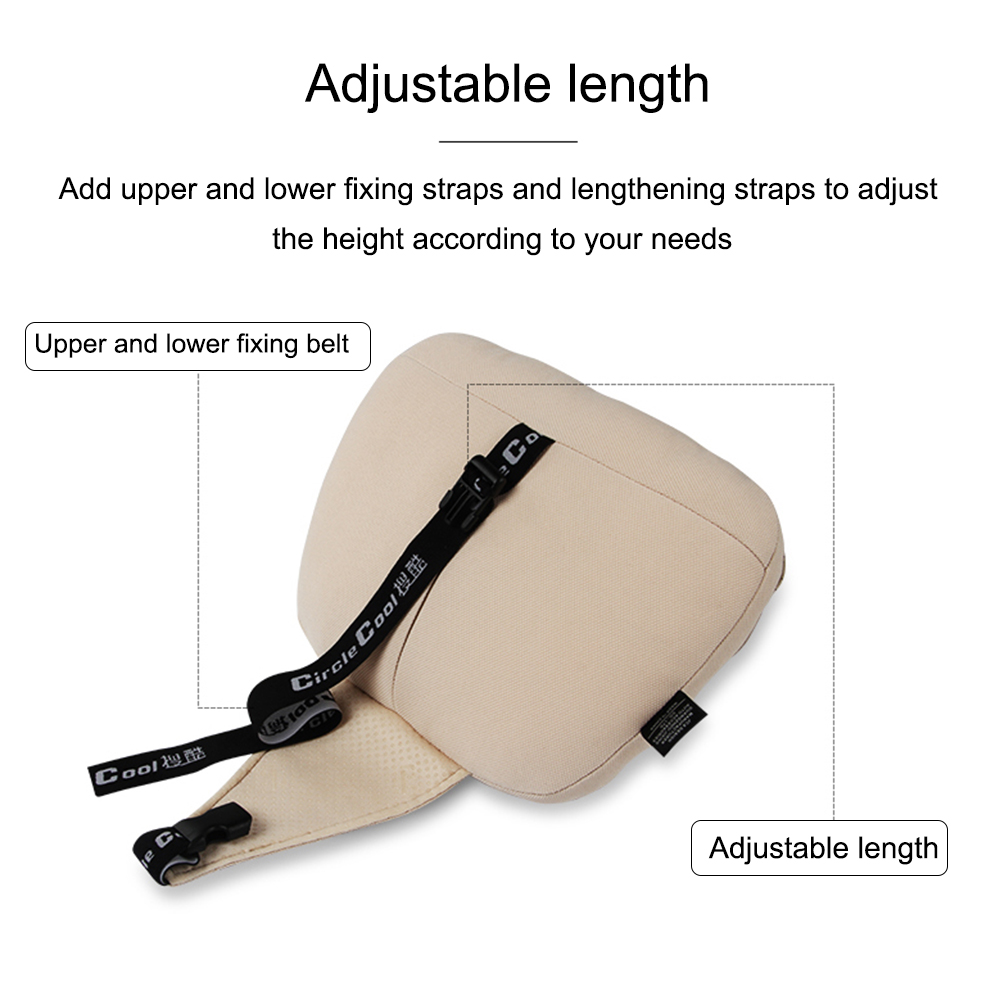 lowest price JINSERTA Maybach S Class Car Headrest pillow for head Leather Comfortable Soft Cushion Cover Adjustable Car Pillow for Universal