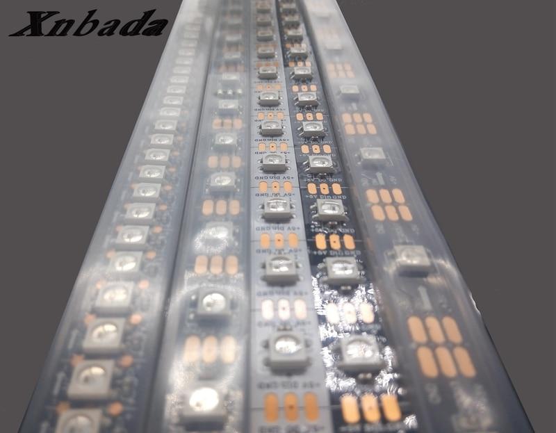 Tiras de Led ws2812 tira conduzida, 30/60/74/96/144 pixels/leds/m Consumo de Energia (w/m) : 11.52w/m