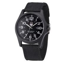 Xinew 2017 лето высокое качество мужские часы открытый дата нержавеющей стали военно-спортивный аналоговый кварцевые часы мужчины