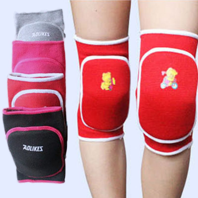 High Quality 3-15Y Child Kids Boy Girl Knee Pad Dance Training Games Cotton Sports Knee Pad Top Sell