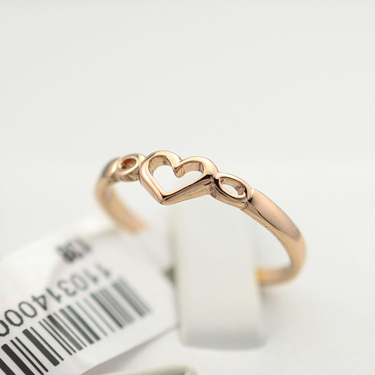 New fashion jewelry gold color heart finger ring for women la s