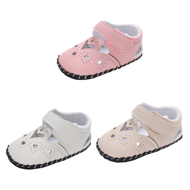 b04f33e6e885 Summer Baby Girl Cute PU Sandals Soft Sole Anti-slip Crib Shoes First  Walkers Walking Shoes Resistance Breathable Antislip Shoes