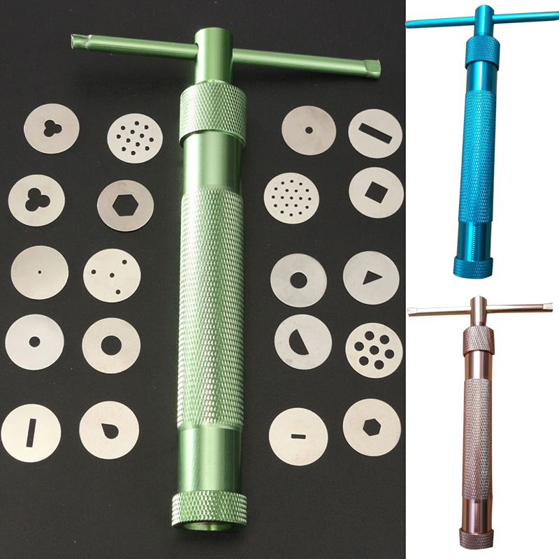 High Quality Green Clay Extruders Sculpture Gun Clay Sugar Paste Extruder Fondant Cake Sculpture Polymer Tool