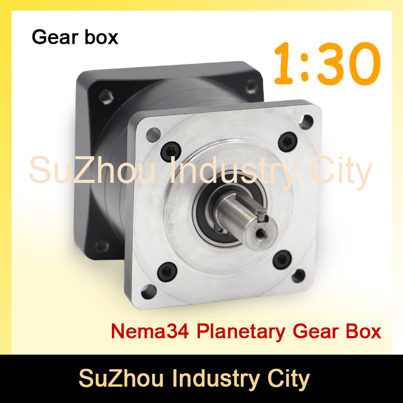 1:30 Nema34 stepper Motor Planetary Reduction Ratio 30:1 planet gearbox 86mm motor speed reducer, High Torque high quality !! цена и фото