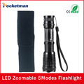 Flashlight CREE XM-L T6 4000 Lumens High Power LED torch Flashlight Linternas Zoomable With a Portable Sleeve E17 Lampe Torche