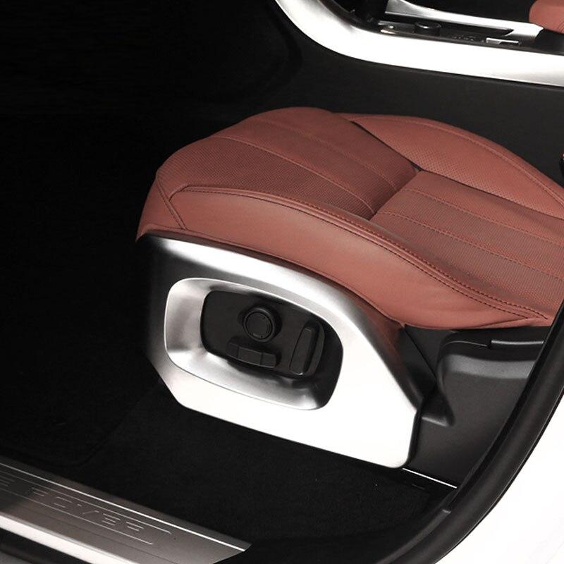 Prix pour 2 pcs Pour Land Rover Range Rover Sport Vogue 2014-2017 Accessoires ABS Chrome Siège Cadre Décoration Garniture De Voiture style
