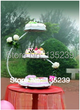 3 Tier 30*60cm Iron Wedding Cake Stand, Customized Party Decoration favors,can hold 4 Pounds Cake,3 Color