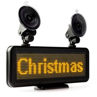12vLED Car Display Board 16*64 Pixels / LED Scrolling sign Panel screen Board usb Programmable Rechargable