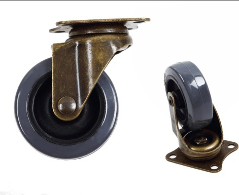 4PCS/LOT  Wheel Diameter:50mm  Vintage  Furniture Casters Mute Pulley Sofa Universal tnt express furniture caster 4 inch swivel wheel steering table sofa wheel universal mute authentic nylon wheels house hardware