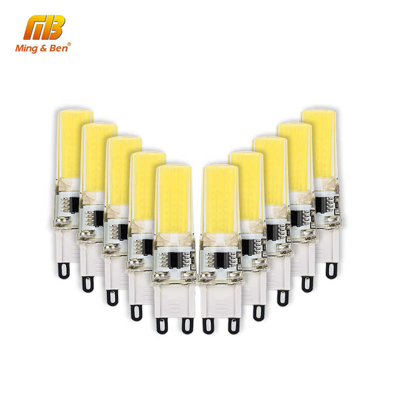 10PCS G9 LED COB Bulb 3W AC 220V No Flicker High Bright Lampada 360 Degree Bombillas Spotlight Chandelier Replace Halogen Lights