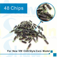 Free shipping 10pcs/lot Wholesale ID48 auto transponder chip Tango Pro Copy ID 48 Car Key Chip 48 grass tube car key