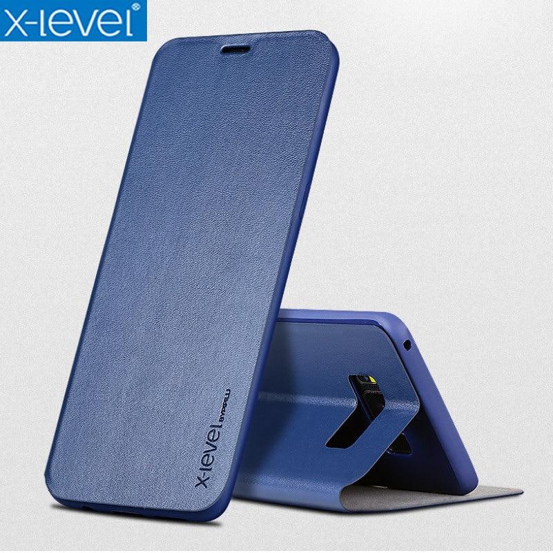 X-Level Flip-Cases Funda-Cover-Case Book S10E Business Plus Samsung For S9 S8 Ultra-Thin