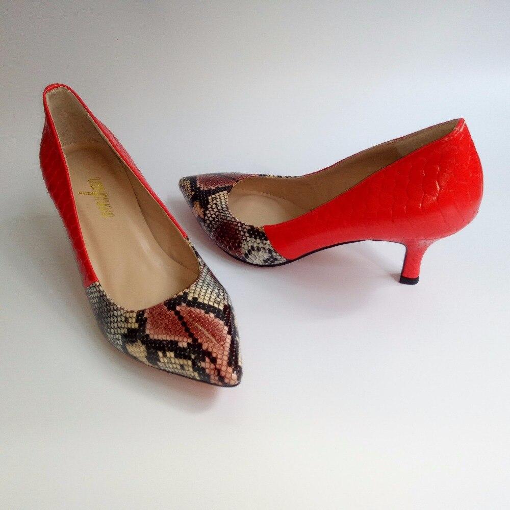 Court as 2 En 7 Cm Doux Cuir Mariage Wenzhan Talon As De Chaussures Pompe Éclat 710 24 Footwears Brillant Printemps Partie Mince 43 Serpent Avec Picture 1 Rouge 35 f6Ybgy7