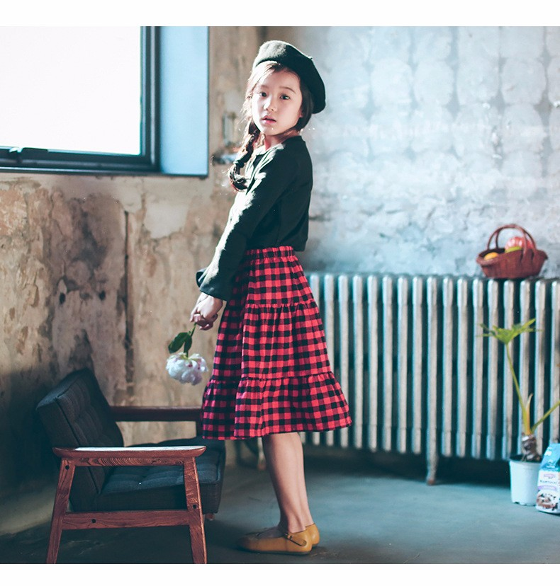 England style long skirts for baby teenage girls red plaid pleated skirt girl 2017 new spring autumn winter children clothing 5 6 7 8 9 10 11 12 13 14 15 16 years old little big teenage girls pleated skirts for kids (20)