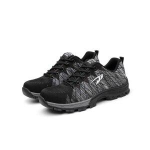 XZMDH أعلى بيع دروبشيبينغ الرجال والنساء سلامة الأحذية في الهواء الطلق تنفس حذاء رجالي الصلب اصبع القدم ثقب واقية العمال رياضية