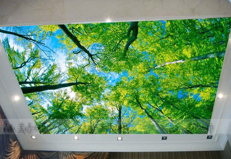 large custom wallpaper murals suspended ceiling living room bedroom marriage room ceiling landscape mural wallpaper